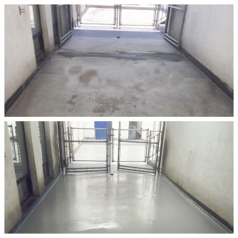 Epoxy floor finish by dependable concrete contractor and concrete work